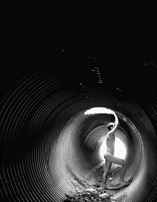 Luz en el túnel, autorretrato, 2008.